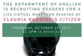 Flyer for Citizen Marathon Reading by the English Department