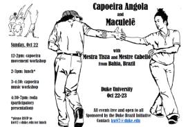 Capoeira image of Mestra Tisza and Mestre Cabello