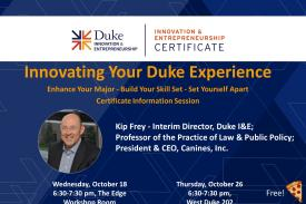 Innovating Your Duke Experience