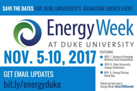 Energy Week at Duke University image