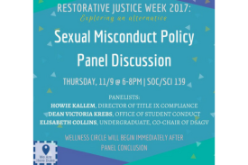 Sexual Misconduct Policy Panel Discussion, We Are Here Duke, Wellness Circle