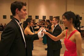 Dancers at the Duke Wind Symphony Viennese Ball