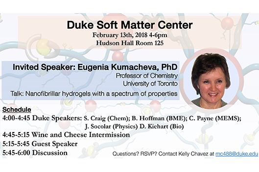 Duke Soft Matter Seminar Series