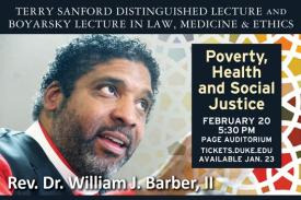 Rev. Barber speaking, event at Duke on Feb. 20, 2018