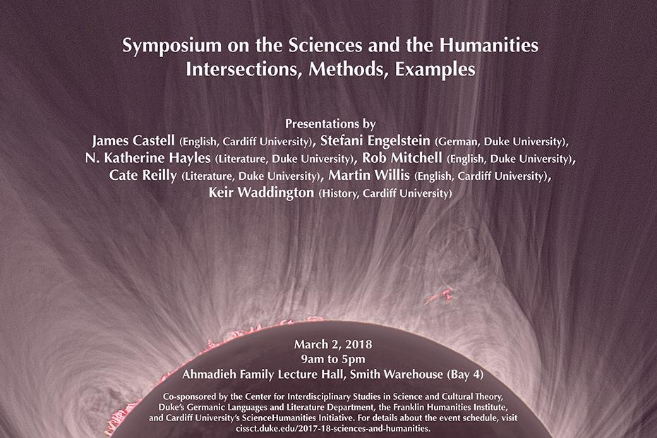 Poster for Symposium on the Sciences and Humanities Intersections, Methods, Examples