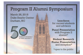 P2 Alumni Symposium flyer
