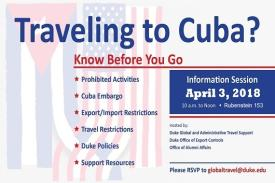 Cuba Travel Info Session