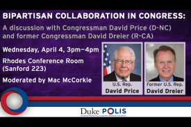 David Price and David Dreier event flyer