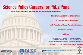 Science Policy Careers for PhDs