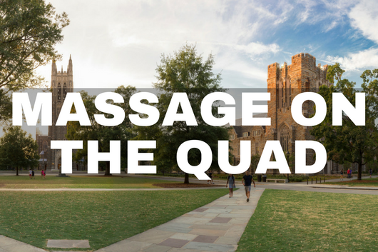 Massage on the Quad