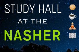 "Graphic that reads ""Study Hall at the Nasher"""