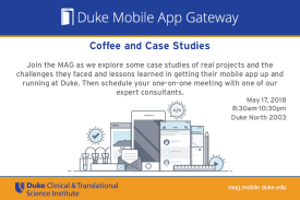 Coffee & Case Studies Flyer