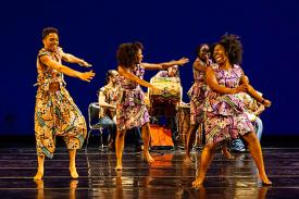 African Dance Repertory: Sunu Reclamation! We Came to Dance! choreography by Ava LaVonne Vinesett. photo by Alec Himwich.