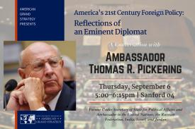 Reflections of an Eminent Diplomat: A Conversation with Thomas Pickering