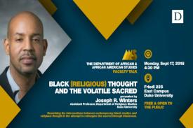 Black (Religious) Thought and the Volatile Sacred