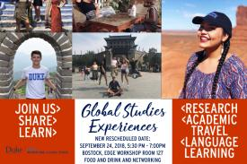 Global Studies Experiences Flyer