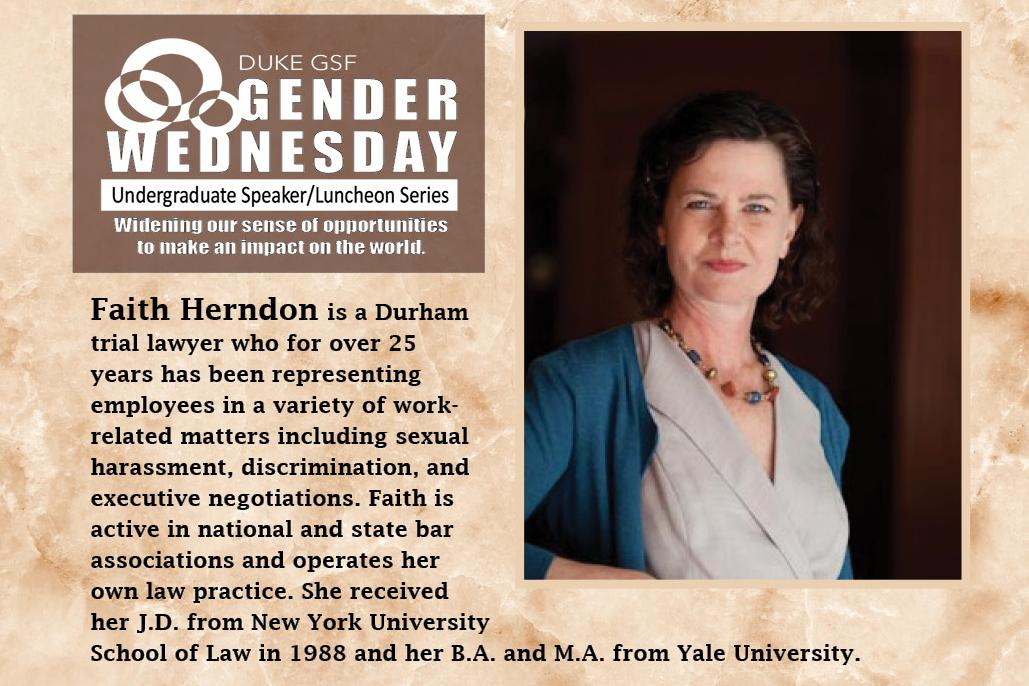 Gender Wednesday Undergraduate Speaker/Luncheon Series