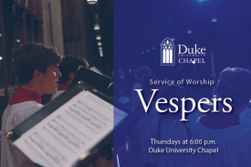 Duke Chapel Vespers Choir