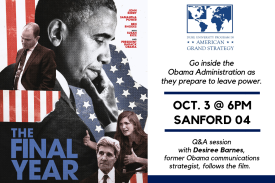 FILM: The Final Year, Go inside the Obama Administration as they prepare to leave power.