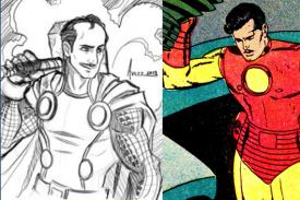 fan art images of Pedro Infante dressed as superheroes