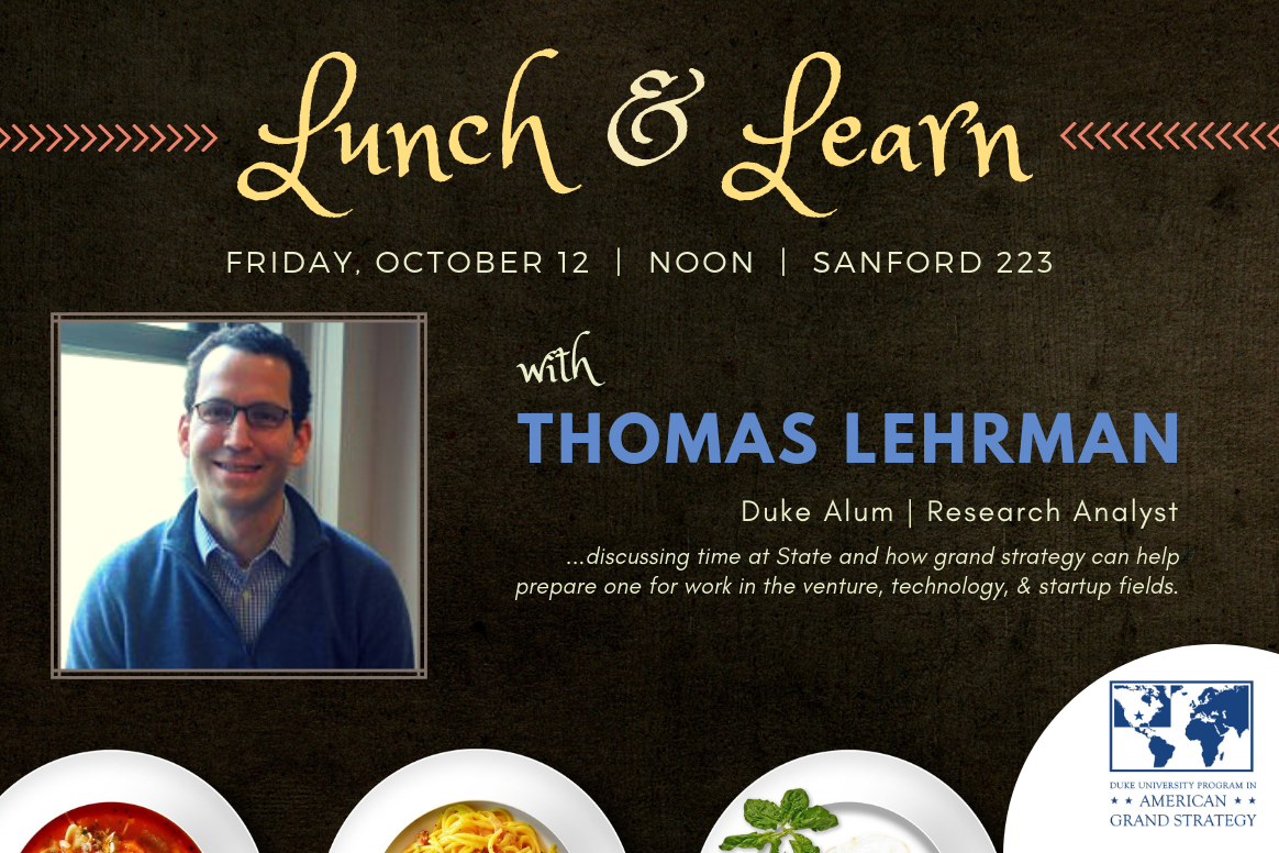 Lunch & Learn with Thomas Lehrman