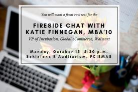 Fireside chat with Duke Alumna Katie Finnegan, MBA'10. October 15