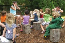 Enjoy stories in the Discovery Garden