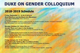 2018-2019 Duke on Gender Colloquium