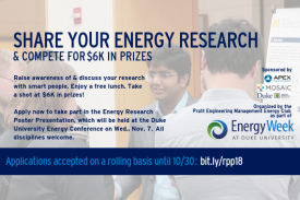 Energy Research Poster Presentation