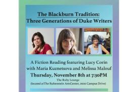 Poster for Blackburn Tradition: Fiction Reading