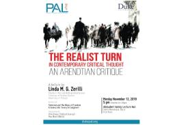 "Poster for Linda Zerilli's, ""The Realist Turn in Contemporary Critical Thought"""