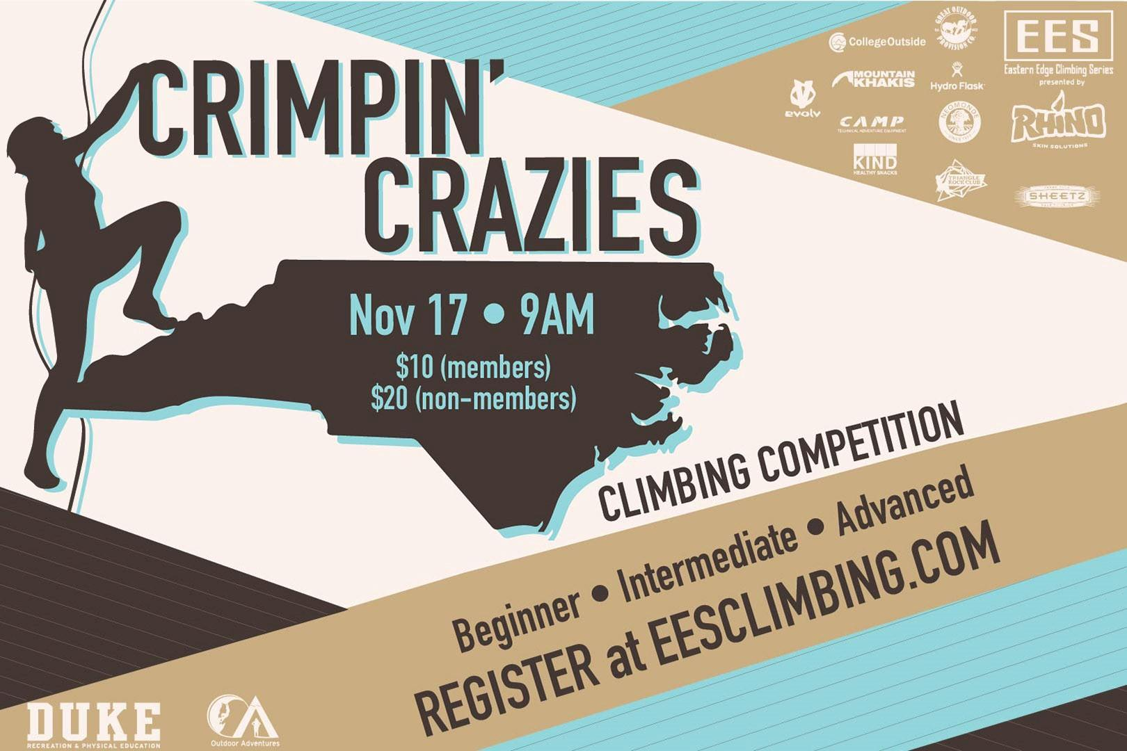 Duke Rec & PE Crimpin¿ Crazies Climbing Competition