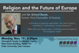 Religion and the Future of Europe, with Dr. Erhard Busek