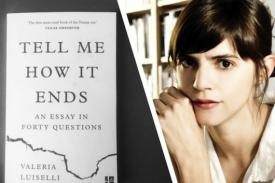 "Flyer for Valeria Luiselli's ""Tell Me How It Ends"""