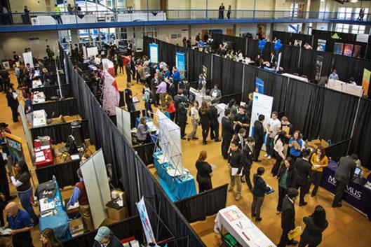 birds eye view of Duke Career Fair