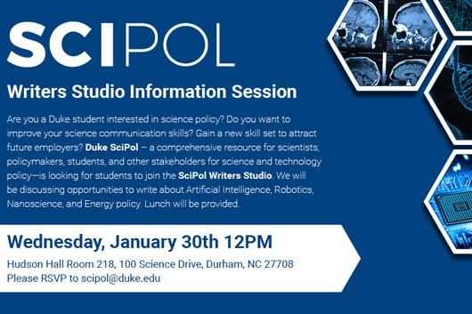 SciPol Writers Studio Information Session