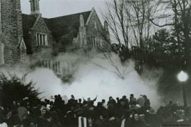 Allen Building tear gas, 1969