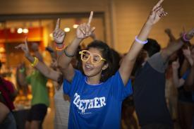Duke students dance at the Nasher Museum