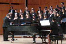 The Duke Chorale in Baldwin Auditorium