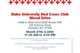 Duke University Red Cross Blood Drive