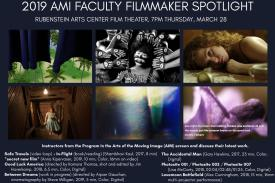 2019 AMI Faculty Filmmaker Spotlight flyer