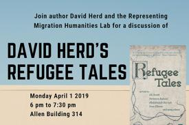 Flyer for Representing Migration Humanities Lab with author David Herd