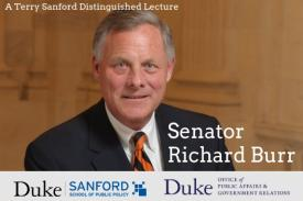 Senator Richard Burr Speaks At Duke April 1