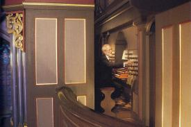 Robert Parkins performing on the Flentrop organ