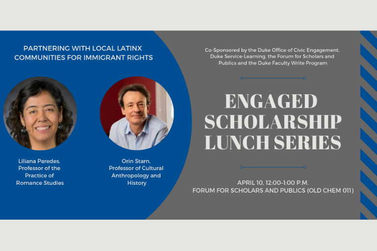 April 10 Engaged Scholarship Lunch Series