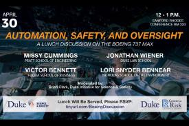 Automation, Safety, and Oversight: A Lunch Discussion On The Boeing 737 Max