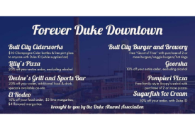 Forever Duke Downtown discounts