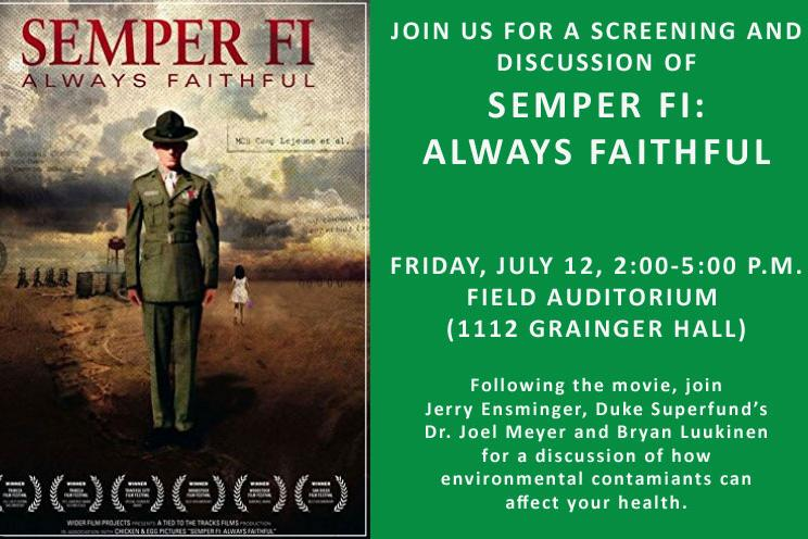 Semper Fi: Always Faithful Movie Screening and Discussion