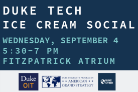 digital sign with event details for ice cream social