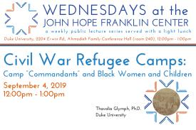 Civil War Refugee Camps: Camp ¿Commandants¿ and Black Women and Children Poster